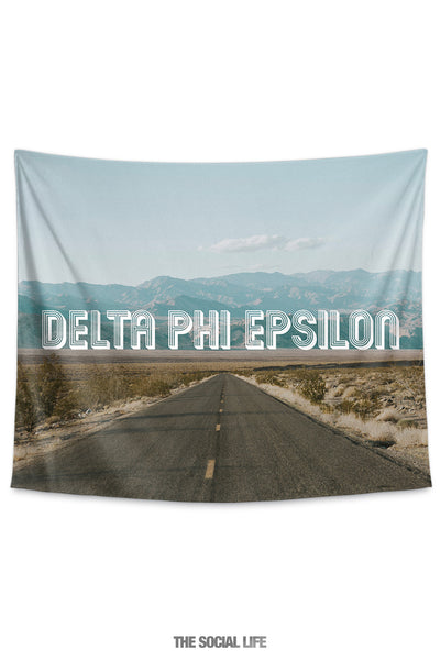 Delta Phi Epsilon Roadtrip Tapestry
