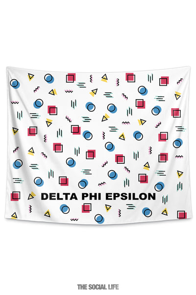 Delta Phi Epsilon Squigglies Tapestry