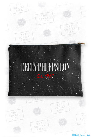 Delta Phi Epsilon Speckle Cosmetic Bag
