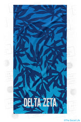 Delta Zeta Sea Leaf Beach Towel