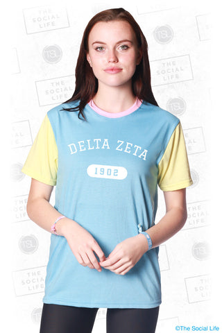 Delta Zeta Color Block Tee