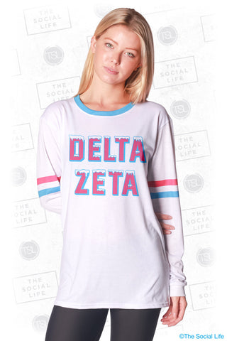 Delta Zeta Frosted Long Sleeve