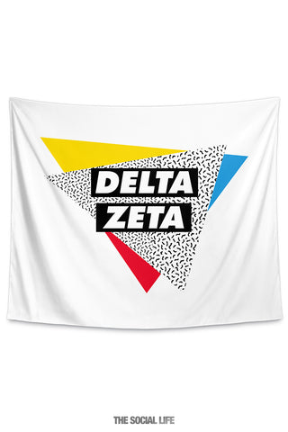 Delta Zeta Graphy Tapestry