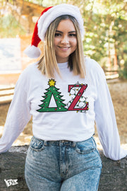Delta Zeta Holiday Letter Long Sleeve
