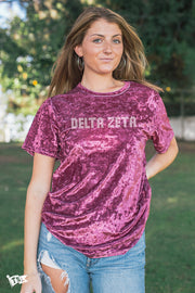 Delta Zeta Hollywood Velvet Tee