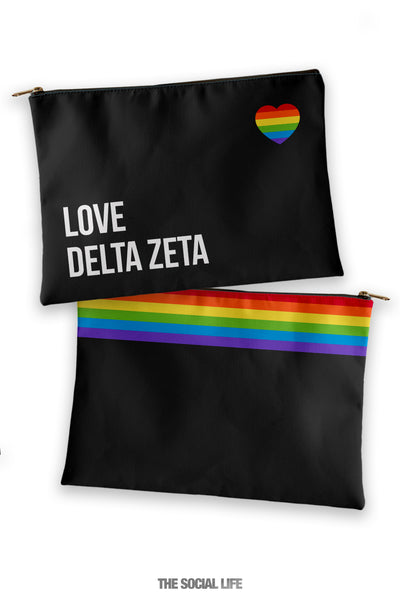 Delta Zeta Love Cosmetic Bag