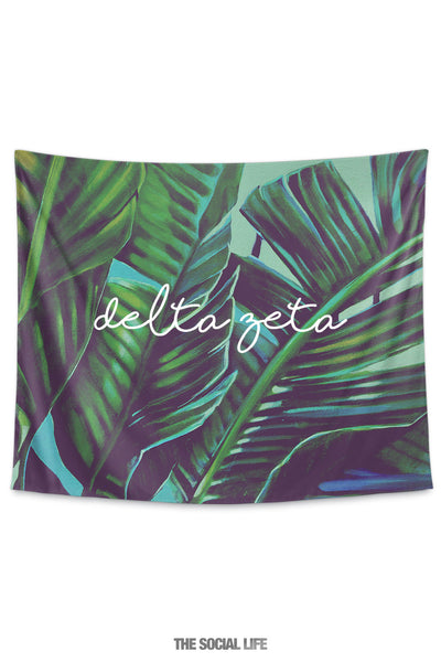 Delta Zeta Painted Palms Tapestry