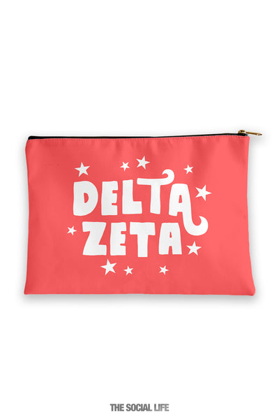 Delta Zeta Pixie Cosmetic Bag