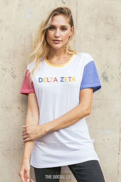 Delta Zeta Primary Scoop Tee