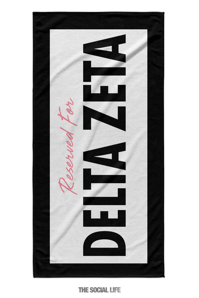 Delta Zeta Reserved Towel