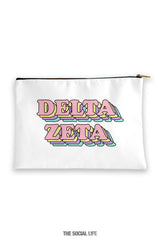 Delta Zeta Retro Cosmetic Bag