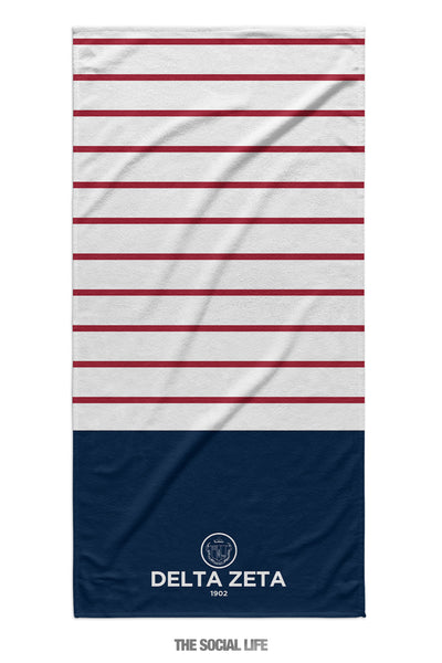 Delta Zeta Sailor Striped Towel
