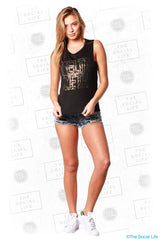DZ - Golden Speckle Muscle Tank