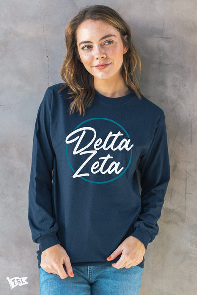 Delta Zeta Stamp Long Sleeve