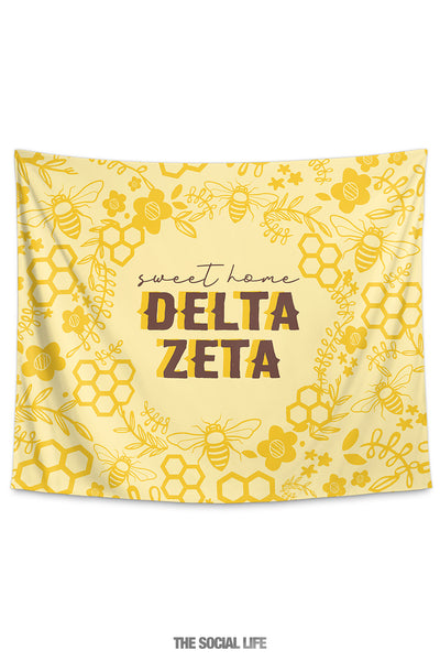 Delta Zeta Sweet Home Tapestry