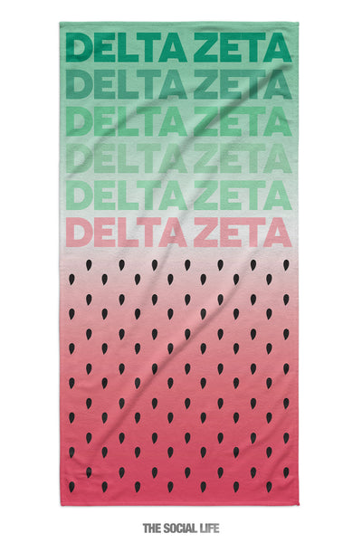 Delta Zeta Watermelon Towel