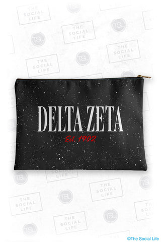 Delta Zeta Speckle Cosmetic Bag