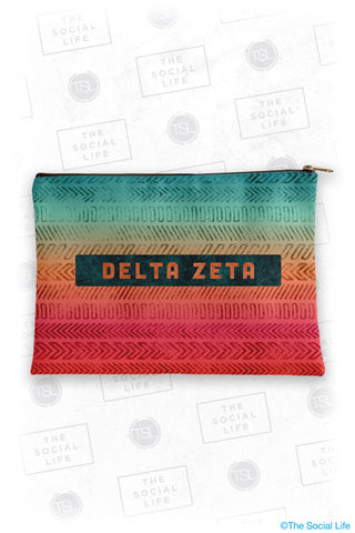 Delta Zeta Tribal Cosmetic Bag