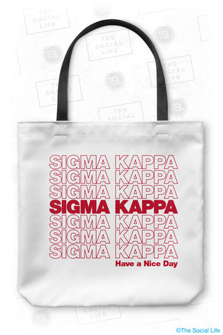 Sigma Kappa Thank You Tote Bag