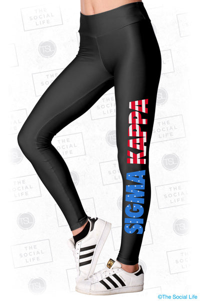 Sigma Kappa USA Leggings
