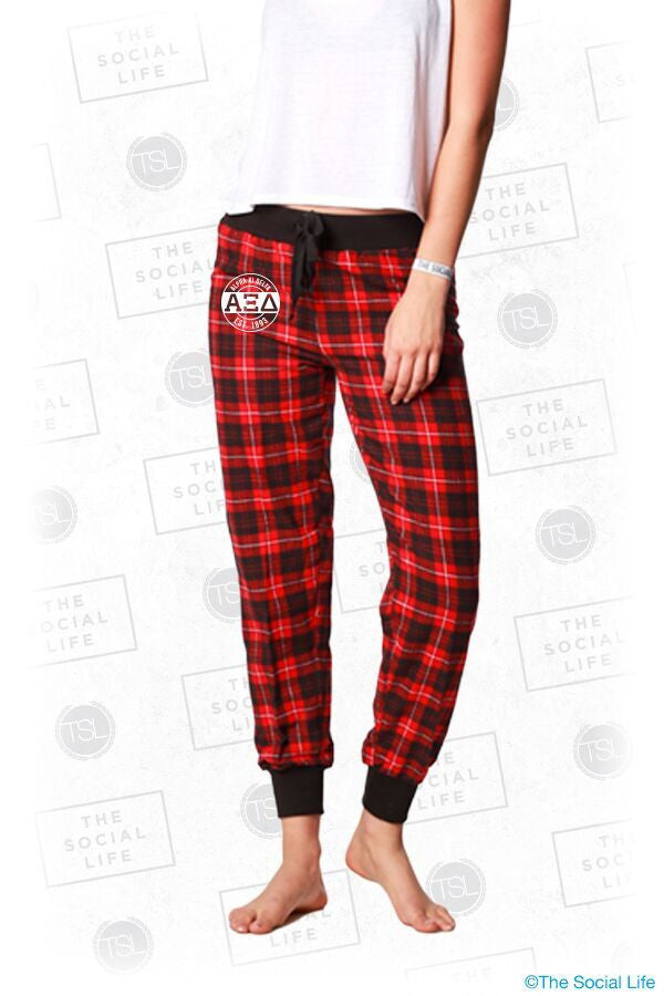 Alpha Xi Delta Plaid Lounge Jogger