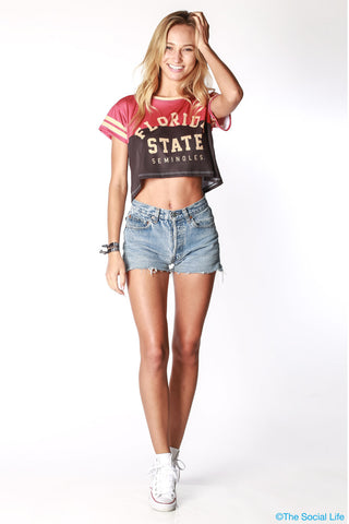 Florida State Team Crop Tee