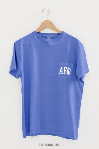 Alpha Epsilon Phi Letter Pocket Tee