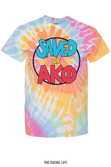 Saved By Alpha Kappa Phi Tie-Dye Tee