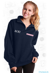 AOPI Navy Quarter Zip