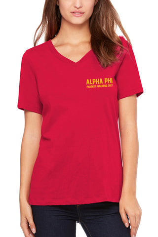 USC Alpha Phi Parents Weekend V-Neck Tee