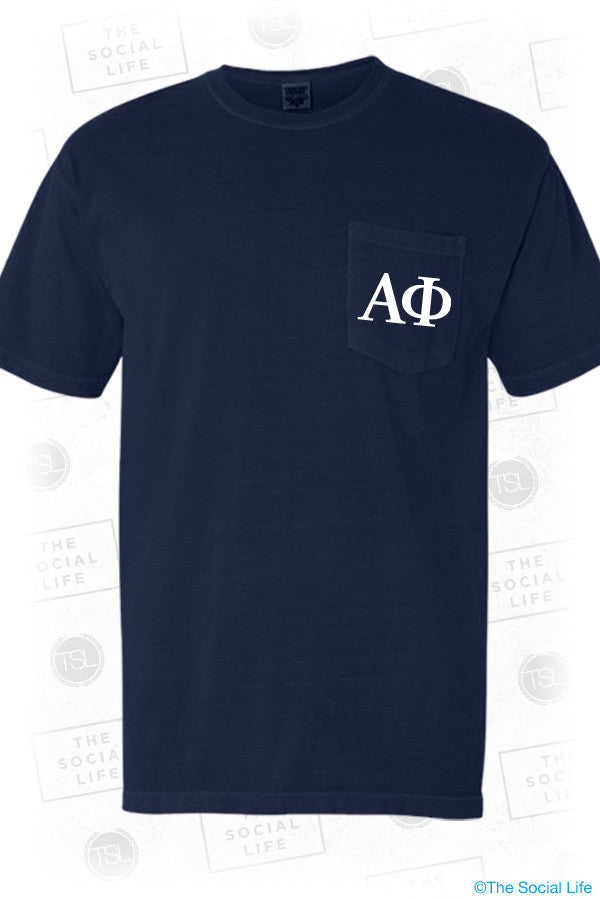 Alpha Phi Man Pocket Tee