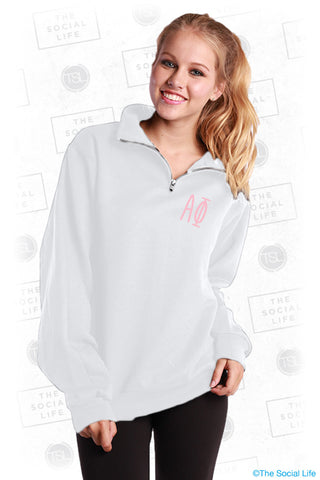 Alpha Phi Fall In Love Quarter Zip