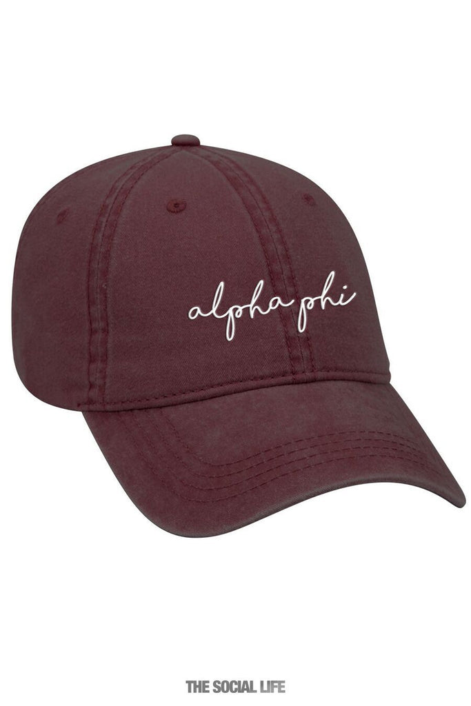b9d0db8b357 Alpha Phi New Member Dad Hat – The Social Life