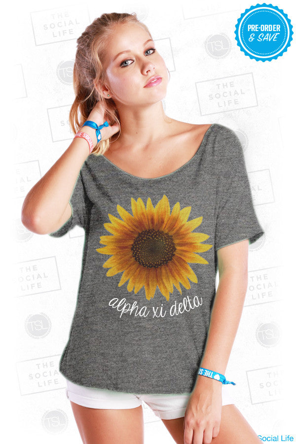 Alpha Xi Delta Sunflower Tee