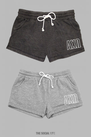 Alpha Chi Omega Fleece Shorts