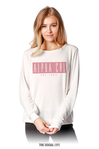 Alpha Chi Omega Marquee Slouchy Pullover