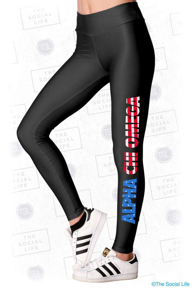 Alpha Chi Omega USA Leggings