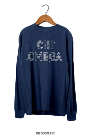 Chi Omega Twinkle Long Sleeve