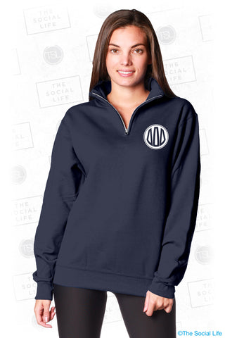 Tri Delta Monogram Quarter Zip