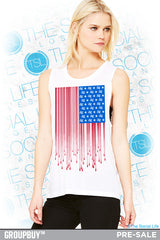 DZ Dripping Flag Muscle Tank