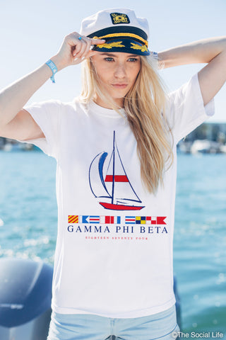 Gamma Phi Beta Yacht Club Tee