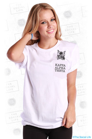 Kappa Alpha Theta Kitten Pocket Tee