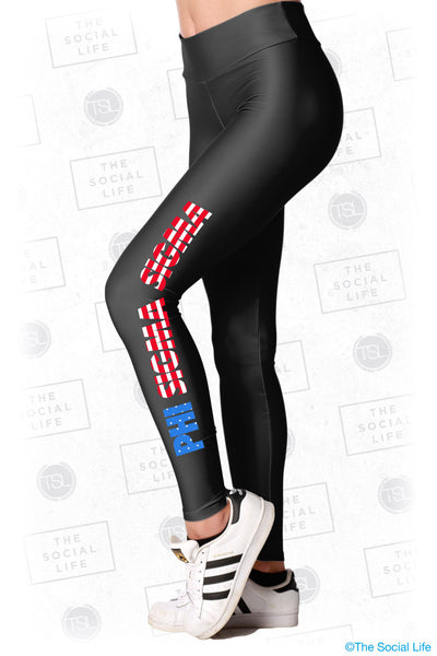 Phi Sigma Sigma USA Leggings