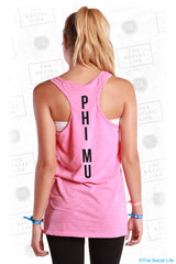 Phi Mu On Wednesdays We Work Out Tank