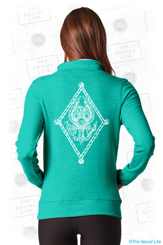 Pi Beta Phi Crest Quarter Zip