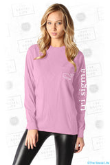 Tri-Sigma Whale Pocket Shirt