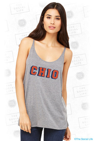Chi O Bold Lettered Tank