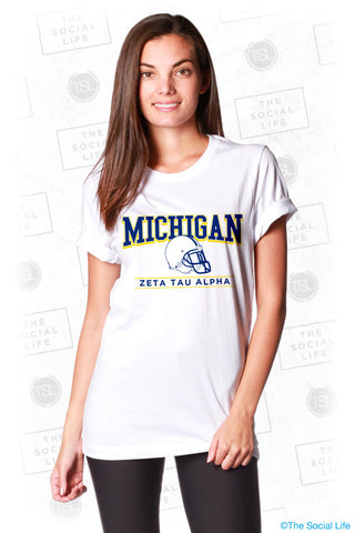 UMICH ZTA Game Day Tee