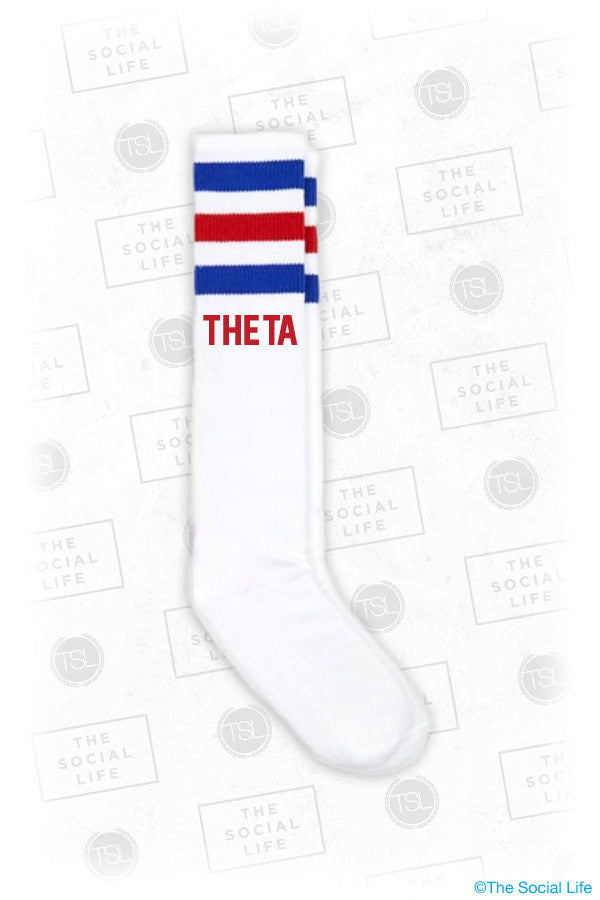 Kat at Bat - Stripe Socks