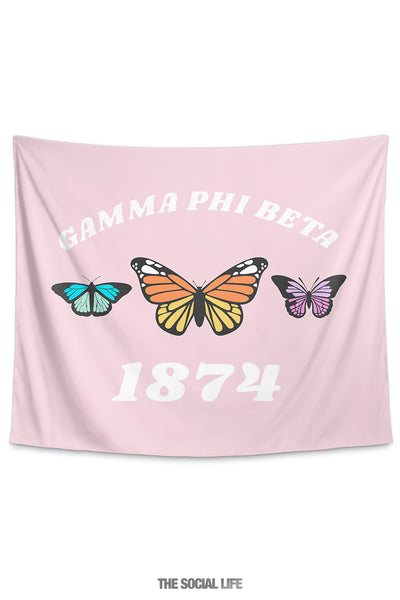 Gamma Phi Beta Butterfly Tapestry
